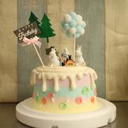 susan susan,這不是翻糖因翻糖不好吃__嚕嚕咪 ( 附上嚕嚕咪、夢幻球、森林、生日插件, 造型不定期調整*。.) (唯一可宅配冰淇淋蛋糕#,也可不做冰淇淋 )...  ....(裝飾品為贈品不得轉售..平均哈根達斯蛋糕熱量的1/5台灣蛋糕的1/4)),