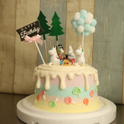 susan susan,冰淇淋千層蛋糕__嚕嚕咪 ( 附上嚕嚕咪、夢幻球、森林、生日插件, 造型不定期調整*。.) (唯一可宅配冰淇淋蛋糕#,也可不做冰淇淋 )...  ....(裝飾品為贈品不得轉售..平均哈根達斯蛋糕熱量的1/5台灣蛋糕的1/4)),