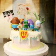 susan susan,這不是翻糖因翻糖不好吃__阿奇老師與小朋友們 ( 附上阿奇老師一班、校園旗幟、花圃擺件,   造型不定期調整*。.) (唯一可宅配冰淇淋蛋糕#,也可不做冰淇淋 )...  ....(阿奇幼稚園歌聲超好聽  裝飾品為贈品不得轉售..平均哈根達斯蛋糕熱量的1/5台灣蛋糕的1/4)),