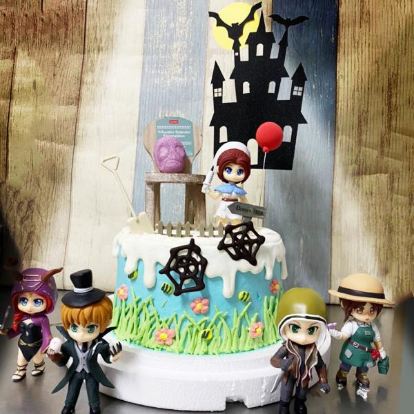 susan susan,冰淇淋千層蛋糕__第五人格 ( 附上第五人格角色、椅子、氣球、恐怖軟糖、城堡插件、花園擺件, 造型不定期調整*。.) (唯一可宅配冰淇淋蛋糕#,也可不做冰淇淋 )...  ....(裝飾品為贈品不得轉售..平均哈根達斯蛋糕熱量的1/5台灣蛋糕的1/4)),