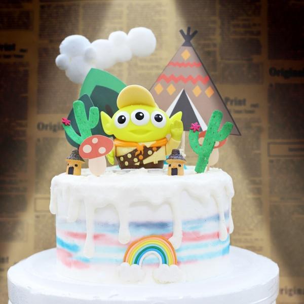 susan susan,全台唯一可宅配_冰淇淋千層蛋糕__三眼怪變裝派對  ( 附上隨機造型三眼怪、派對帳篷、小屋、仙人掌、雲朵、彩虹, 造型不定期調整*。.) (##也可不做冰淇淋 )... 玩具總動員好看  ....(裝飾品為贈品不得轉售..平均哈根達斯蛋糕熱量的1/5台灣蛋糕的1/4))防疫期間,尤其雙北桃園新竹,下單表示同意可能延誤,台灣加油!,