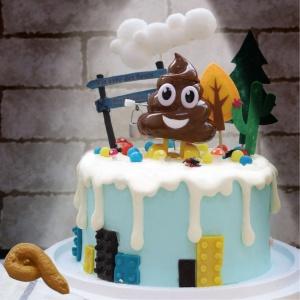 大便, 玩具, 裝飾蛋糕, 冰淇淋蛋糕, Dessert365, PX 漫漫手工甜點市集, 手工甜點, 冰淇淋蛋糕, 與手工甜點對話的Susan, 插畫, 客製化