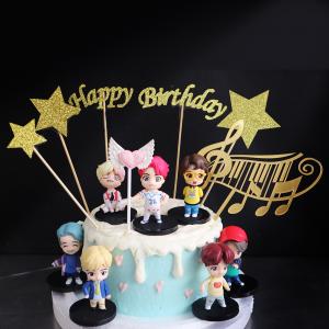 防彈少年, 玩具, 裝飾蛋糕, 冰淇淋蛋糕, Dessert365, PX 漫漫手工甜點市集, 手工甜點, 冰淇淋蛋糕, 與手工甜點對話的Susan, 插畫, 客製化
