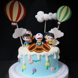 多拉ㄟ夢, 小叮噹, 玩具, 裝飾蛋糕, 冰淇淋蛋糕, Dessert365, PX 漫漫手工甜點市集, 手工甜點, 冰淇淋蛋糕, 與手工甜點對話的Susan, 插畫, 客製化