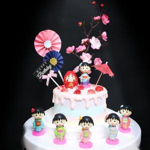 櫻桃小丸子, 玩具, 裝飾蛋糕, 冰淇淋蛋糕, Dessert365, PX 漫漫手工甜點市集, 手工甜點, 冰淇淋蛋糕, 與手工甜點對話的Susan, 插畫, 客製化