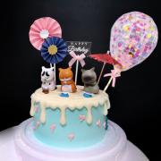 苦惱小喵, 煩惱貓, 玩具, 裝飾蛋糕, 冰淇淋蛋糕, Dessert365, PX 漫漫手工甜點市集, 手工甜點, 冰淇淋蛋糕, 與手工甜點對話的Susan, 插畫, 客製化