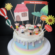櫻桃小丸子, 公仔, 玩具, 裝飾蛋糕, 冰淇淋蛋糕, Dessert365, PX 漫漫手工甜點市集, 手工甜點, 冰淇淋蛋糕, 與手工甜點對話的Susan, 插畫, 客製化