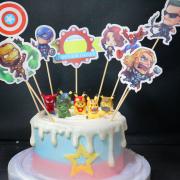 復仇者,寶可夢, 皮卡丘, 公仔, 玩具, 裝飾蛋糕, 冰淇淋蛋糕, Dessert365, PX 漫漫手工甜點市集, 手工甜點, 冰淇淋蛋糕, 與手工甜點對話的Susan, 插畫, 客製化