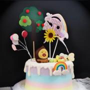 醜比頭, 屁桃, 公仔, 玩具, 裝飾蛋糕, 冰淇淋蛋糕, Dessert365, PX 漫漫手工甜點市集, 手工甜點, 冰淇淋蛋糕, 與手工甜點對話的Susan, 插畫, 客製化