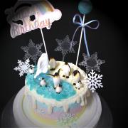susan susan,冰淇淋千層蛋糕__企鵝寶貝 ( 附上企鵝、冰山、冰山果凍、雪花、星辰、彩虹生日插件,裝飾造型不定期調整, 但主題與數量都會一致請放心。.) (唯一可全台宅配 冰淇淋千層蛋糕, 共同利用宅配對抗武漢肺炎, 減少不必要外出,也可勾不做冰淇淋 )...  ....(裝飾品為贈品不得轉售, 部分蛋糕依照您勾選的附件贈品種類與數量不同,材積與蛋糕造型會有增加或者變動,因此蛋糕售價會跟著浮動. 平均哈根達斯蛋糕熱量的1/5; 平均台灣蛋糕熱量的1/4)),