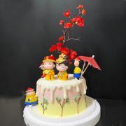 susan susan,全台唯一可宅配_冰淇淋千層蛋糕__穿越宮廷之你與我 ( 附上霸氣皇上、皇上身邊的妳、牡丹、古風雨傘,造型不定期調整*。.) (##也可不做冰淇淋 )...  ....(裝飾品為贈品不得轉售..平均哈根達斯蛋糕熱量的1/5台灣蛋糕的1/4))防疫期間,新竹以北延誤機率約1%,因此會提早給司機,提早到放冷凍保鮮不擔心,