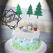susan susan,冰淇淋千層蛋糕__龍貓悠閒時光 ( 附上釣魚龍貓、小梅、公車站牌、鴨子、魚、溪流、森林、生日插件, 造型不定期調整*。.) (唯一可宅配冰淇淋蛋糕#,也可不做冰淇淋 )...  ....(裝飾品為贈品不得轉售..平均哈根達斯蛋糕熱量的1/5台灣蛋糕的1/4)),