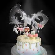 致敬covid-19, 武漢肺炎, 新冠肺炎, 白衣天使,護士, 玩具, 裝飾蛋糕, 冰淇淋蛋糕, Dessert365, PX 漫漫手工甜點市集, 手工甜點, 冰淇淋蛋糕, 與手工甜點對話的Susan, 插畫, 客製化
