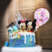 susan susan,全台唯一可宅配_冰淇淋千層蛋糕__米奇米妮星空之夜  ( 附上米奇米妮可擇一或者都要、大氣球插件、城堡、生日快樂插件  造型不定期調整*。.) (##也可不做冰淇淋 )...  ....(裝飾品為贈品不得轉售..平均哈根達斯蛋糕熱量的1/5台灣蛋糕的1/4))防疫期間,尤其雙北桃園新竹,下單表示同意可能延誤,台灣加油!,