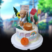 susan susan,全台唯一可宅配_冰淇淋千層蛋糕__我不是禿子 ( 附上假髮、最強英雄、馬桶、房子、公園、立牌,   造型不定期調整*。.) (##也可不做冰淇淋 )...  ...(一拳超人的歌曲很熱血).(裝飾品為贈品不得轉售..平均哈根達斯蛋糕熱量的1/5台灣蛋糕的1/4))防疫期間,雙北桃園新竹消費者下單表示同意可接受延誤,台灣加油!,