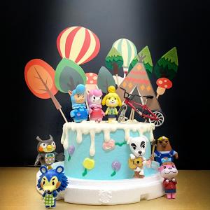 susan susan,冰淇淋千層蛋糕__動物森友會 ( 附上動物森友會、腳踏車、熱氣球、郊遊森林,造型不定期調整*。.) (唯一可宅配冰淇淋蛋糕#,也可不做冰淇淋 )...  ....(裝飾品為贈品不得轉售..平均哈根達斯蛋糕熱量的1/5台灣蛋糕的1/4)),