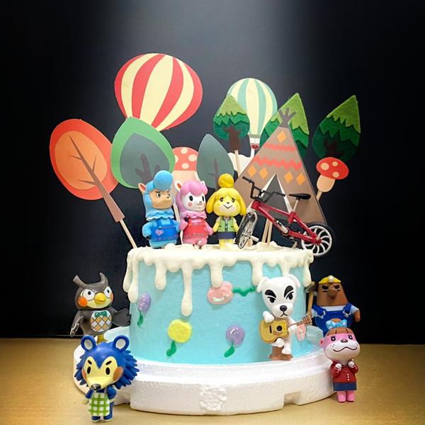 susan susan,這不是翻糖因翻糖不好吃__動物森友會 ( 附上動物森友會、腳踏車、熱氣球、郊遊森林,造型不定期調整*。.) (唯一可宅配冰淇淋蛋糕#,也可不做冰淇淋 )...  ....(裝飾品為贈品不得轉售..平均哈根達斯蛋糕熱量的1/5台灣蛋糕的1/4)),