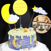 susan susan,冰淇淋千層蛋糕__湯姆貓與傑利鼠  ( 附上老鼠與貓、月亮、庫存食物, 造型不定期調整*。.) (唯一可宅配冰淇淋蛋糕#,也可不做冰淇淋 )...  ....(裝飾品為贈品不得轉售..平均哈根達斯蛋糕熱量的1/5台灣蛋糕的1/4)),