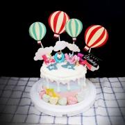 susan susan,全台唯一可宅配_冰淇淋千層蛋糕__少女系_愛情小貓咪 ( 附上LOVE貓、熱氣球、生日快樂插件、棉花糖, 造型不定期調整*。.) (##也可不做冰淇淋 )...  ....(裝飾品為贈品不得轉售..平均哈根達斯蛋糕熱量的1/5台灣蛋糕的1/4))防疫期間,新竹以北延誤機率約1%,因此會提早給司機,提早到放冷凍保鮮不擔心,