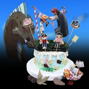 susan susan,冰淇淋千層蛋糕__傳承 ( 附上魯夫、紅髮、海賊王拉旗、選附海賊船, 造型不定期調整*。.) (唯一可宅配冰淇淋蛋糕#,也可不做冰淇淋 )...  ....(裝飾品為贈品不得轉售..平均哈根達斯蛋糕熱量的1/5台灣蛋糕的1/4)),