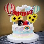 susan susan,這不是翻糖因翻糖不好吃__菊花朵朵開 ( 附上海賊王魯夫、熱氣球、雲朵、彩虹、菊花, 造型不定期調整*。.) (唯一可宅配冰淇淋蛋糕#,也可不做冰淇淋 )...  ....(裝飾品為贈品不得轉售..平均哈根達斯蛋糕熱量的1/5台灣蛋糕的1/4)),