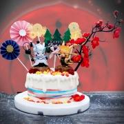 susan susan,冰淇淋千層蛋糕__皮卡丘無限月讀之戰 ( 附上火影忍者皮卡丘x2、血之樹、森林、煙花、和風插件,造型不定期調整*。.) (唯一可宅配冰淇淋蛋糕#,也可不做冰淇淋 )...  ....(裝飾品為贈品不得轉售..平均哈根達斯蛋糕熱量的1/5台灣蛋糕的1/4)),