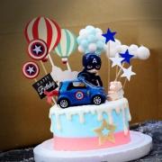 susan susan,冰淇淋千層蛋糕__美國隊長車車 ( 附上跑車、美國隊長、專屬插旗、熱氣球、夢幻球、白雲、生日快樂   造型不定期調整*。.) (唯一可宅配冰淇淋蛋糕#,也可不做冰淇淋 )...  ....(裝飾品為贈品不得轉售..平均哈根達斯蛋糕熱量的1/5台灣蛋糕的1/4)),