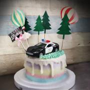 susan susan,冰淇淋千層蛋糕__帥氣台灣警車  ( 附上警車、熱氣球、街道樹木  造型不定期調整*。.) (唯一可宅配冰淇淋蛋糕#,也可不做冰淇淋 )...  ....(裝飾品為贈品不得轉售..平均哈根達斯蛋糕熱量的1/5台灣蛋糕的1/4)),