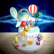susan susan,冰淇淋千層蛋糕__音速小子 ( 附上音速小子與夥伴們、金幣巧克力、閃電生日插件、熱氣球、遊戲樹木,   造型不定期調整*。.) (唯一可宅配冰淇淋蛋糕#,也可不做冰淇淋 )...  ....(裝飾品為贈品不得轉售..平均哈根達斯蛋糕熱量的1/5台灣蛋糕的1/4)),