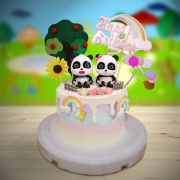 susan susan,全台唯一可宅配_冰淇淋千層蛋糕__奇奇妙妙 ( 附上奇奇妙妙、蘋果樹、彩虹、向日葵、氣球造型裝飾,   造型不定期調整*。.) (##也可不做冰淇淋 )...  ....(裝飾品為贈品不得轉售..平均哈根達斯蛋糕熱量的1/5台灣蛋糕的1/4))防疫期間,新竹以北延誤機率約1%,因此會提早給司機,提早到放冷凍保鮮不擔心,