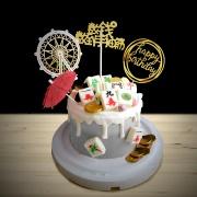 susan susan,全台唯一可宅配_冰淇淋千層蛋糕___麻將 ( 附上麻將巧克力、金幣巧克力、金碧輝煌摩天輪、生日快樂、中傘,造型不定期調整*。.) (##也可不做冰淇淋 )...  ....(裝飾品為贈品不得轉售..平均哈根達斯蛋糕熱量的1/5台灣蛋糕的1/4))防疫期間,雙北桃園新竹消費者下單表示同意可接受延誤,台灣加油!,