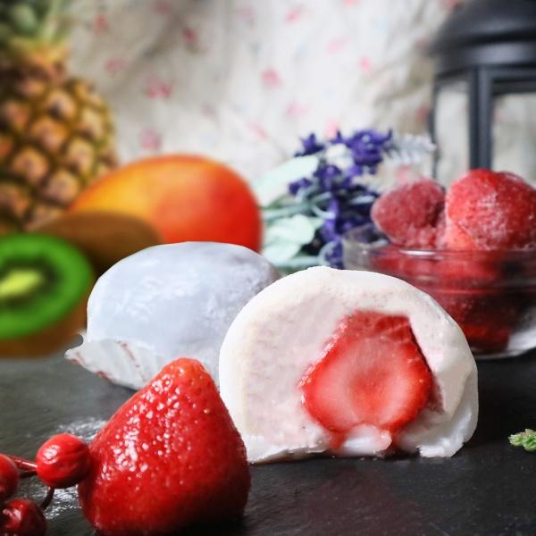 susan susan,冰淇淋水果雪莓娘/大福 (6入綜合: 草莓.鳳梨.芒果.奇異果.芋頭.葡萄),